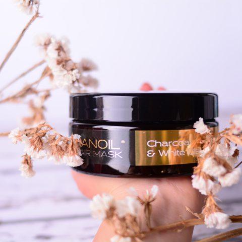 Nanoil Charcoal & White Clay anmeldelse av den perfekte hårmasken. Fantastisk effekt!
